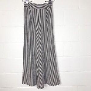 Boo Hoo Night palazzo pants wide leg Striped
